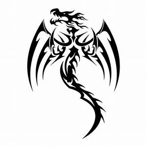 Tribal Dragon Tattoos | Tribal tattoo designs – black ...