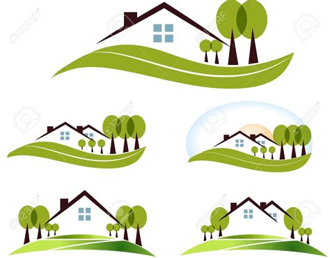 Pencil And In Color Lawn Clipart House Garden