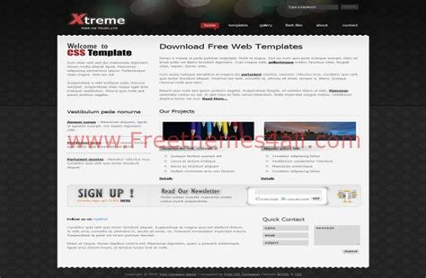Free Css Black Template Business Metal Theme Download