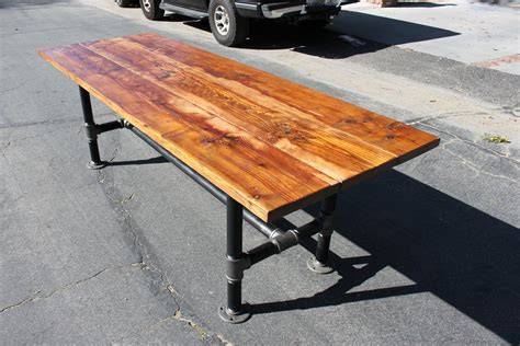 Rustic Reclaimed Wood Table With Industrial By