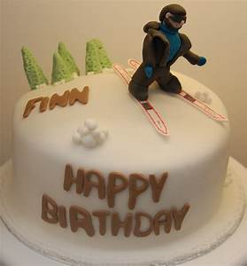 Hours of Fun Skiing cake for Finns birthday