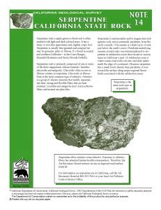 facts  serpentine  host rock  asbestos adao
