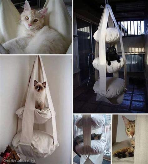 cat hammock diy diy hanging cat bed trusper