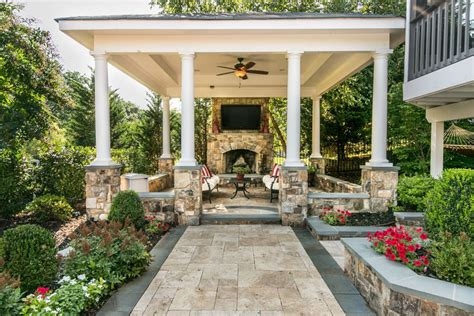 outdoor covered patios with tv pictures to pin on