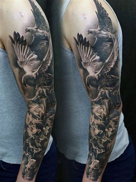 doves  burning candle unique mens sleeve tattoo