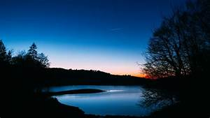 Wallpaper, Lake, Trees, Sunset, Night, Sky, Landscape, Dark, Hd, Picture, Image