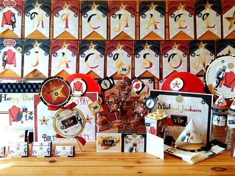 Michael Birthday Theme by Michael Jackson Printable Supplies Invitations