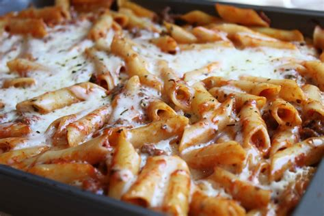 baked ziti with baked ziti with spicy pork and sausage ragu recipe dishmaps