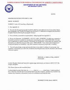 best photos of sample counseling letter employee With air force loc template