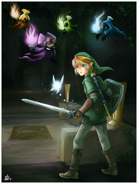 Adult Link In Forest Temple Against The Poe Sisters The