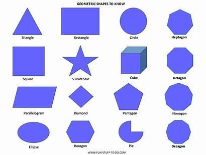 Shapes Geometric Names Shape Spanish Fun Worksheets