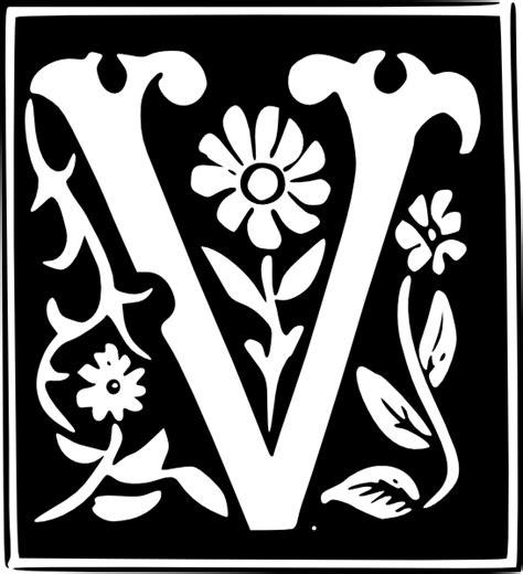 decorative letter set  clip art  clkercom vector