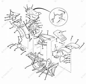 Polaris Atv 1989 Oem Parts Diagram For Body Assembly