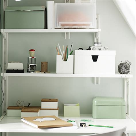 bureau avec etageres idées rangement pour le bureau décoration