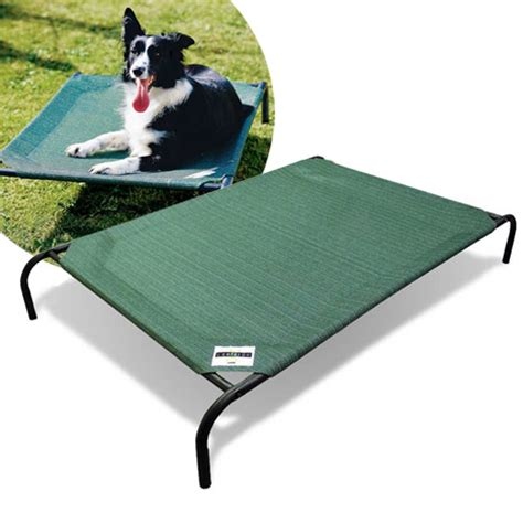 coolaroo elevated pet bed coolaroo medium elevated pet bed with knitted fabric