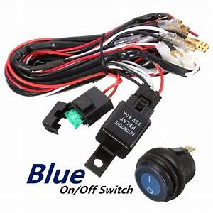 40a 12v Led Light Bar Wiring Harness Relay On Off Switch For Jeep  U2013 Car Wiring Diagram