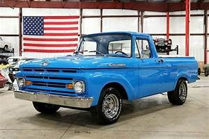 1962 Ford F100 1885 Miles Competition Blue Pickup Truck V8