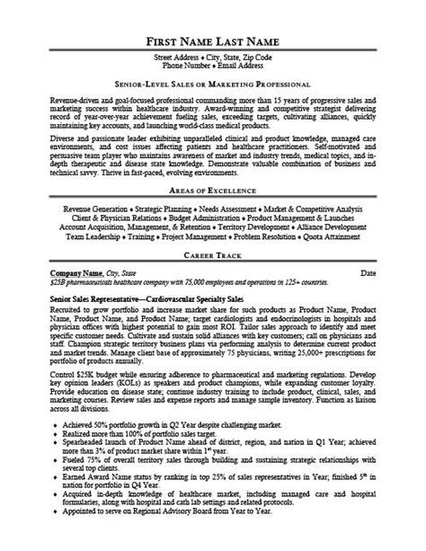 senior sales representative resume template premium