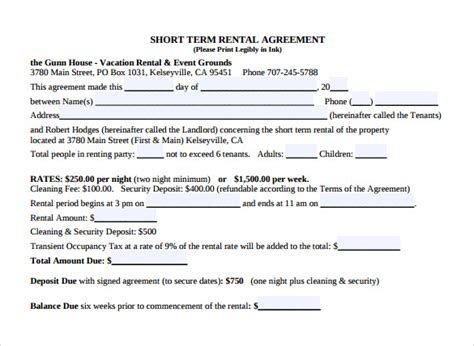 House Lease Agreement Template Free - Costumepartyrun