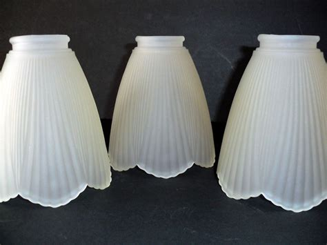ceiling fan l shade replacements 3 petal shaped frosted white glass ceiling fan globe light