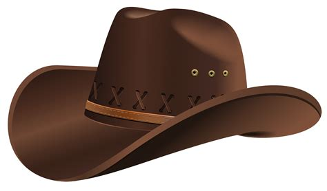 Hat Clip Cowboy Clipart Front View Pencil And In Color Cowboy