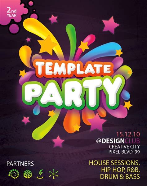 colorful flyer psd template free download 60 free psd poster and flyer templates updated