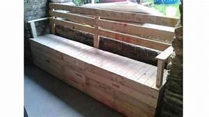 50 utilisations incroyables de vieilles palettes en bois With canape de jardin castorama 18 banc coffre bois