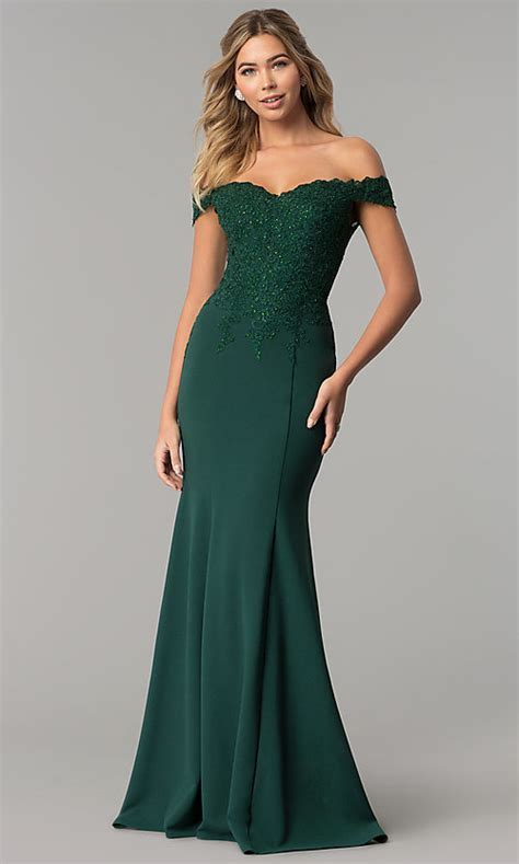 Hunter Green Long Formal Dress