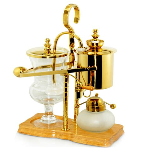 Hot promotions in balance coffee maker on aliexpress: Royal Belgium balancing siphon coffee maker Gold coffee maker machine, 450 ml (Vacuum Syphon ...