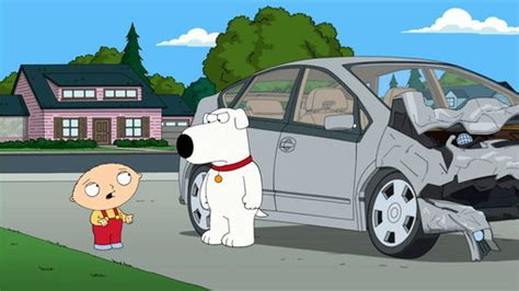 Stewie Crashes Brian S Car by Family 10x04 Stewie Goes For A Drive Sharetv