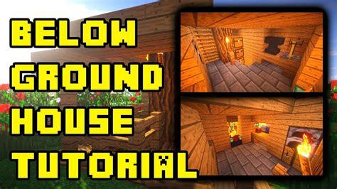 minecraft underground housebase designideas build tutorial xboxpepspc youtube