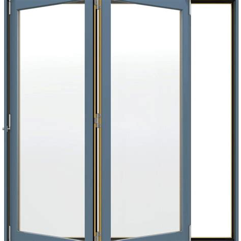 jeld wen w 4500 series left folding wood patio door