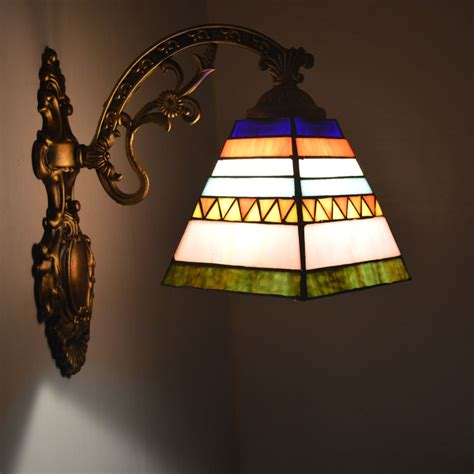 Stained Glass Bathroom Light Fixtures by Wall L Style Stained Glass Wall Sconce