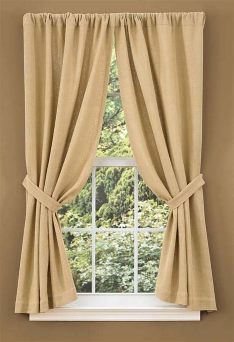 burlap curtain panels primitive home decors