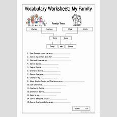 Vocabulary Worksheet  My Family (easy) Worksheet  Free Esl Printable Worksheets Made By Teachers
