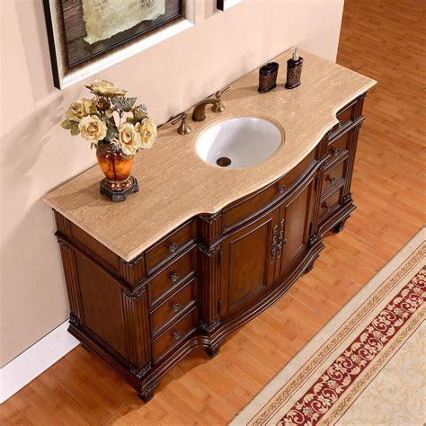 60 inch vanity top single sink silkroad 60 inch vintage single sink bathroom vanity
