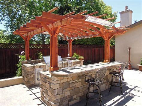 marin outdoor kitchen pergola kits built   decades  redwood landscape