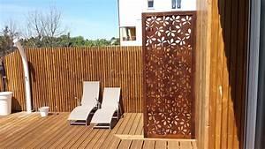 Paravent Extérieur Balcon : paravent ext rieur balcon avec paravent d ext rieur en bois les mod les allure et bois idees et ~ Teatrodelosmanantiales.com Idées de Décoration