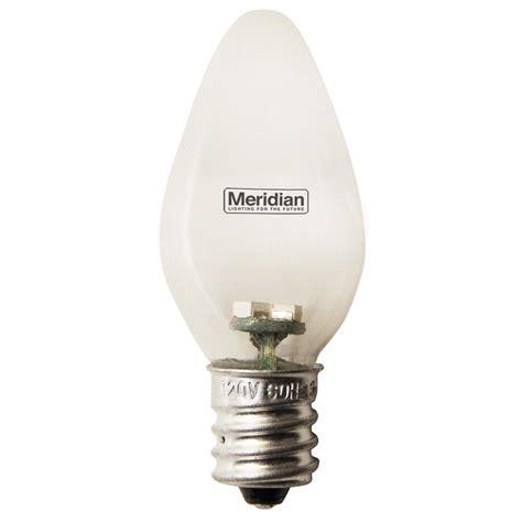 home depot lava l bulb meridian 4 watt equivalent soft white c7 led light bulb 4