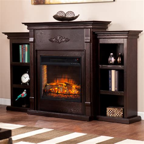 tennyson bookcase electric fireplace 70 25 quot tennyson infrared electric fireplace w bookcases