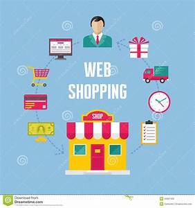 Set Online Shop : infographic business concept web online shopping stock vector image 40921453 ~ Orissabook.com Haus und Dekorationen