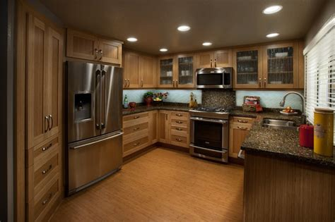 dewils bamboo cabinetry tropical kitchen portland