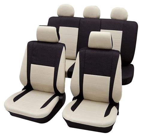 housse siege c1 black beige car seat cover set for honda civic