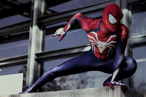 ps insomniac spiderman cosplay  print spandex games