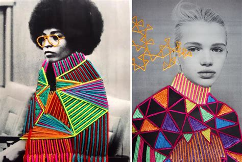 colorfully embroidered vintage   artists