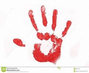 Red Hand Print Stock Images - Image: 9568134