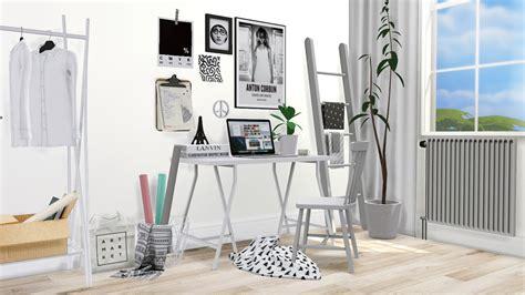 Sims 4 Ccs The Best Ikea Lerberg Mini Desk By Mxims
