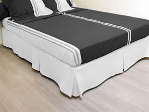 Protege Sommier 140x190 : cache sommier plateau 3 plis 140x190 cm blanc bona reva ~ Teatrodelosmanantiales.com Idées de Décoration