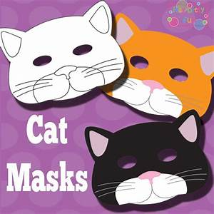 printable cat mask and template to color mask template With children s mask templates