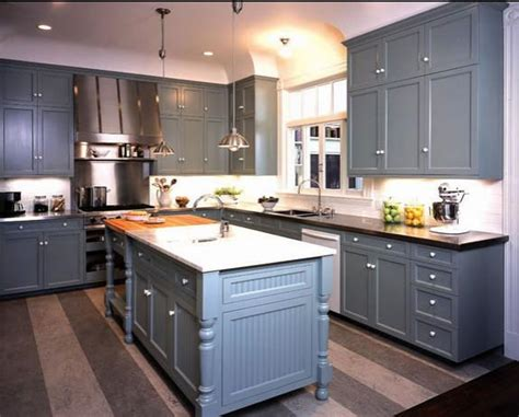 pictures of kitchen cabinets painted gray delorme designs great gray blue kitchen